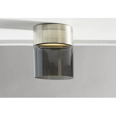 Manette Semi Flush Mount Size: 7.9 H x 11 W x 11 D, Shade Color: Transparent Smoke
