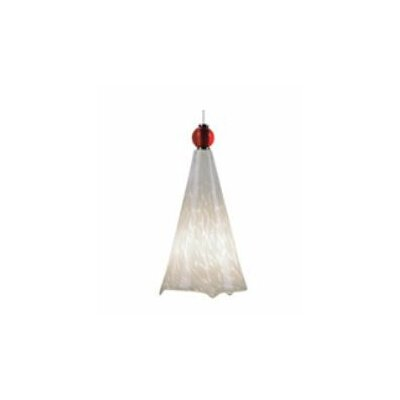Ovation Ball Topped 1-Light Mini Pendant Finish: Antique Bronze, Bulb Type: Halogen, Shade/Topper Color: White/Red