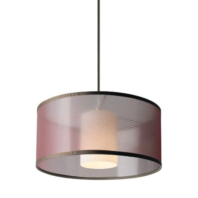 Frary Mini Drum Pendant Shade Color: Brown