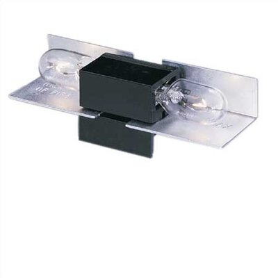 Ambiance� LX Linear Track Lighting Two Socket Lampholder in Black