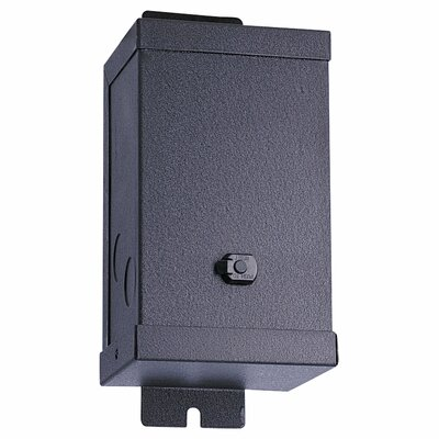 24V Magnetic Transformer in Powder Coated Black Size: 4.25 H x 4.5 W x 10.75 D