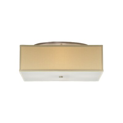 Chambers 4-Light Semi Flush Mount Color: Tan / Desert Clay