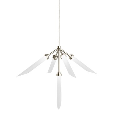 Herlev 5-Light Cluster Pendant Finish: Satin Nickel
