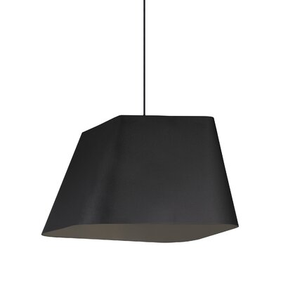 Gorton 1-Light Geometric Pendant Shade Color: Textured Black/Black