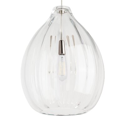 Hiatt Geometric Pendant Finish: Black, Shade Color: Clear