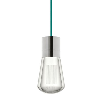 Gordillo Single 1-Light Mini Pendant Finish: Satin Nickel, Shade Color: Teal