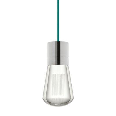Gordillo Single 1-Light Mini Pendant Finish: Satin Nickel, Shade Color: Teal