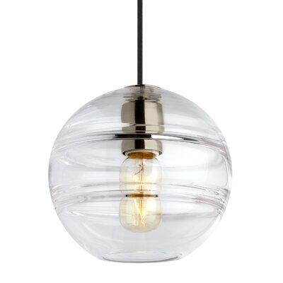 Glowacki 1-Light Globe Pendant Finish: Satin Nickel, Shade Color: Clear