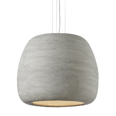 Pilcher 1-Light Mini Pendant Finish: Concrete/White