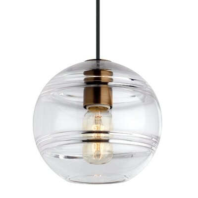 Glowacki 1-Light Globe Pendant Finish: Aged Brass, Shade Color: Clear