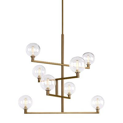 Herberts Candle-Style Chandelier Finish: Aged Brass
