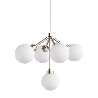 Penwell 5-Light Sputnik Chandelier Finish: Satin Nickel
