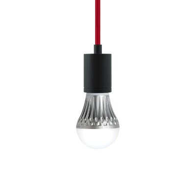Brickley 1-Light Mini Pendant Finish: Black, Shade Color: Teal