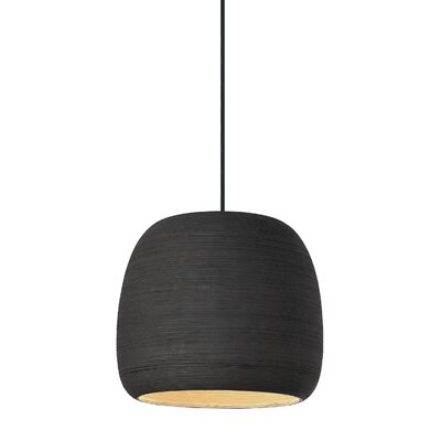 Pietsch 1-Light Mini Pendant Finish: Black/Black
