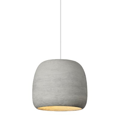Pietsch 1-Light Mini Pendant Finish: Concrete/White