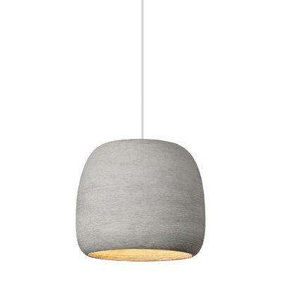 Pietsch 1-Light LED Mini Pendant Finish: Concrete/White