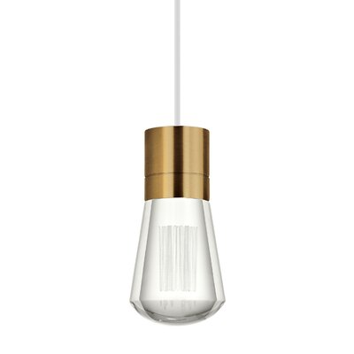 Gordillo Single 1-Light Mini Pendant Finish: Aged Brass, Shade Color: White