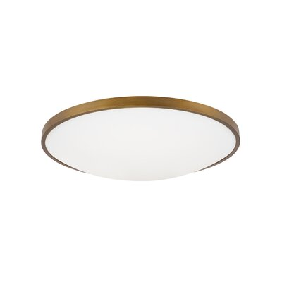 Lakey LED Flush Mount Fixture Finish: Aged Brass