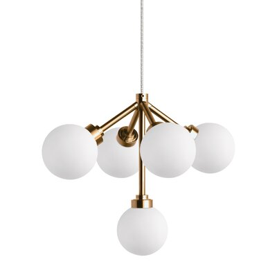 Penwell 5-Light Sputnik Chandelier Finish: Aged Brass