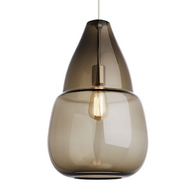 Hewitt Geometric Pendant Finish: Satin Nickel, Shade Color: Smoke