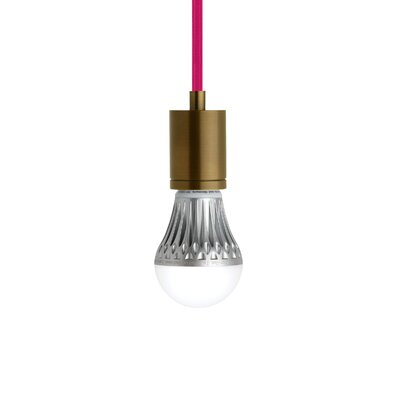 Brickley 1-Light Mini Pendant Finish: Aged Brass, Shade Color: Fuscia