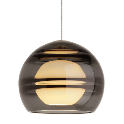 Glowacki Globe Pendant Finish: Satin Nickel, Shade Color: Transparent Smoke