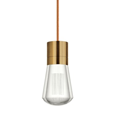 Gordillo Single 1-Light Mini Pendant Finish: Aged Brass, Shade Color: Copper