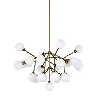 Penwell Sputnik Chandelier Finish: Aged Brass