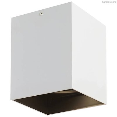 Pepin LED Flush Mount Fixture Finish: Black, Shade Color: Matte White