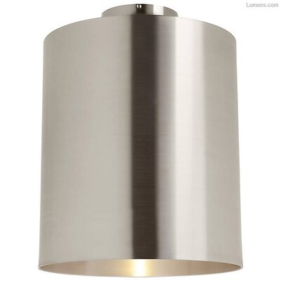 Perdomo LED Flush Mount Fixture Finish: Brushed Aluminum