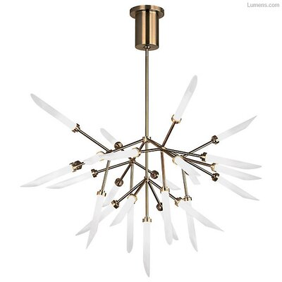 Herlev 25-Light LED Sputnik Chandelier Finish: Aged Brass