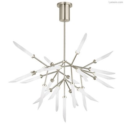 Herlev 25-Light LED Sputnik Chandelier Finish: Satin Nickel