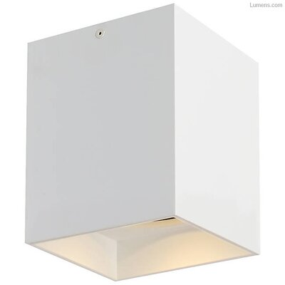 Pepin LED Flush Mount Fixture Finish: White, Shade Color: Matte White