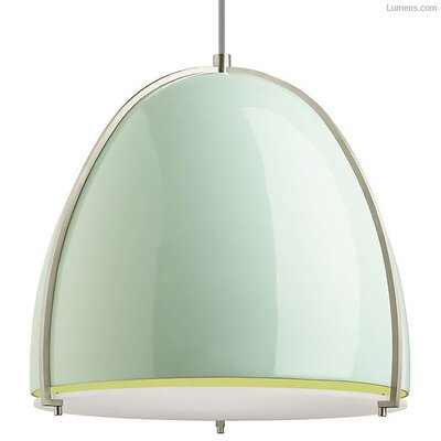 Gossage 1-Light LED Pendant Finish: Satin Nickel, Shade Color: Mint