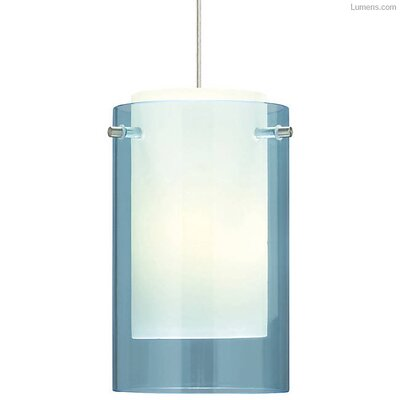 Pinkston 1-Light Mini Pendant Finish: Black, Shade Color: Aquamarine