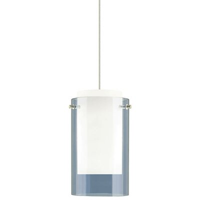 Pinkston 1-Light Mini Pendant Finish: Black, Shade Color: Steel Blue