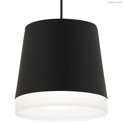 Pewitt Inverted Pendant Finish: Black, Shade Color: Black