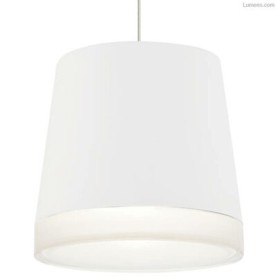 Pewitt Inverted Pendant Finish: Satin Nickel, Shade Color: White