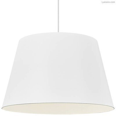 Pickell 1-Light LED Mini Pendant Shade Color: White