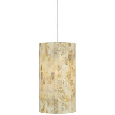 Hanke 1-Light Mini Pendant Finish: Satin Nickel, Shade Color: Natural