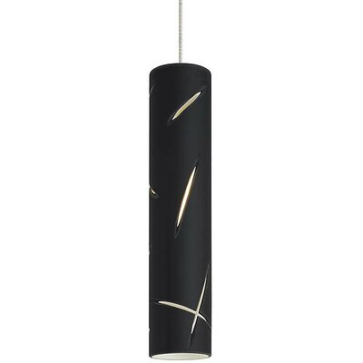 Phair Small 1-Light Mini Pendant Finish: Chrome, Shade Color: Black