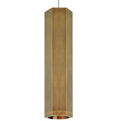 Brice 1-Light Mini Pendant Finish: Aged Brass/Aged Brass, Size: 12.5 H x 3.2 W x 3.2 D