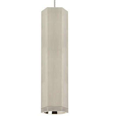 Brice 1-Light Mini Pendant Finish: Satin Nickel/Satin Nickel, Size: 12.5 H x 3.2 W x 3.2 D