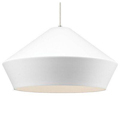 Gordan Inverted Pendant Finish: Satin Nickel, Shade Color: Matte White