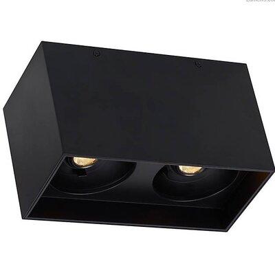 Pepin Dual LED Flush Mount Fixture Finish: Black, Shade Color: Matte Black