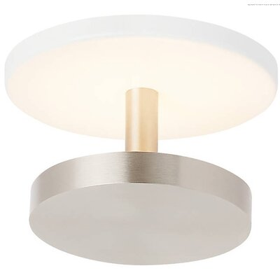 Penton Semi LED Flush Mount Fixture Finish: Satin Nickel