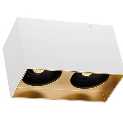 Pepin Dual LED Flush Mount Fixture Finish: Gold Haze, Shade Color: Matte White