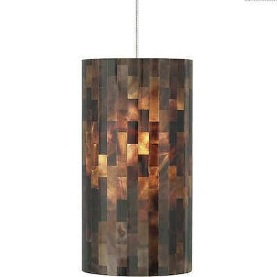 Hanke 1-Light Mini Pendant Finish: Satin Nickel, Shade Color: Brown