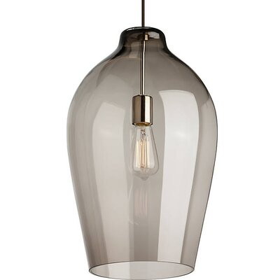 Costilla Geometric Pendant Finish: Black, Shade Color: Smoke