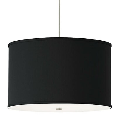 Gorgias 4-Light Drum Pendant Finish: Satin Nickel, Shade Color: Black